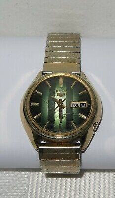 AU60 • Buy VINTAGE RARE SEIKO-5 Automatic 21J' Watch 6119-7470 Day/Date Men's GREEN OLIVE
