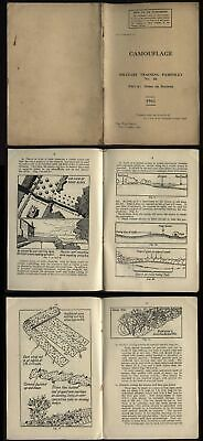 £25 • Buy WWII 1941 CAMOUFLAGE-Military Training-Home Guard, Pamphlet No 46-part 6