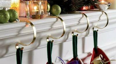 £9.99 • Buy Set Of 4  Mantle Clips Fireplace Christmas Stocking Holders Mantel