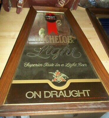 $ CDN31.13 • Buy Unusual Michelob Mirrored Sign - Glass Mirrored Michelob Beer Sign-20 X14  EC