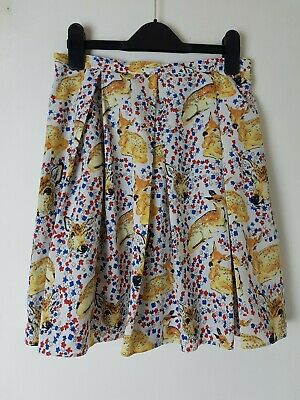 £10 • Buy Topshop Deer Print Skirt Size 8 Tall Quirky Retro