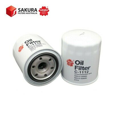 AU19.33 • Buy SAKURA OIL FILTER Cross Reference 90915-03006, 90915-30002, Ryco Z334 (C-1112)