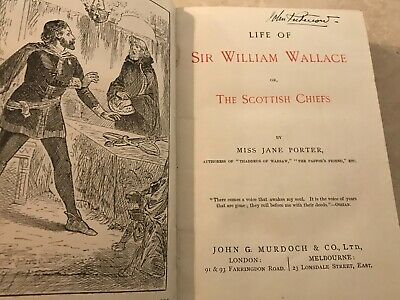 £10.82 • Buy Life Of Sir William Wallace Or The Scottish Chiefs By Miss Jane Porter