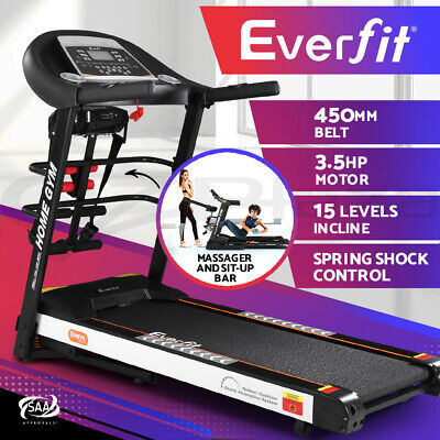 AU759.95 • Buy Everfit Electric Treadmill Auto Incline Home Gym Run Exercise Machine Fitness