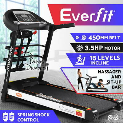 AU819.95 • Buy Everfit Treadmill Electric Auto Incline Home Gym Run Exercise Machine Fitness