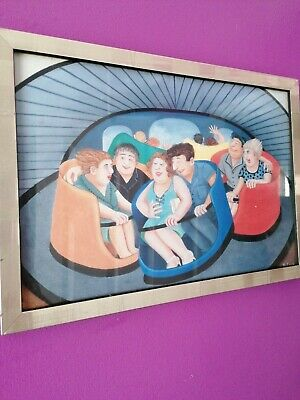 Beryl Cook Framed Print At The Fairground Spinning Teacups • 15£