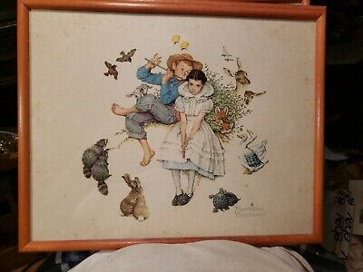 $ CDN49.17 • Buy 4 Norman Rockwell Framed Color Prints, 12 ×15 ,1970's, Good Condition