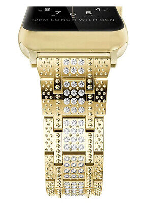 $ CDN40.20 • Buy 18K Gold Plated Crystal Band For Apple Watch Series 1,2,3,4,5,6 (38mm/40mm) NEW