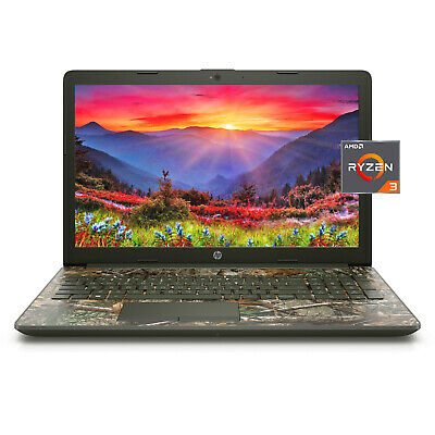 "View Details NEW HP 15.6"" HD AMD Ryzen 3 3200U 3.5GHz 8GB 256GB SSD Windows 10 Laptop Camo • 444.99$"
