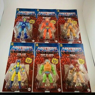 $149 • Buy Masters Of The Universe Action Figure Lot - Set Of 6 - All Unpunched MOTU He-Man