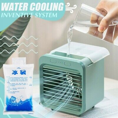 AU42.59 • Buy Portable Evaporative Air Cooler Fan USB LED Mini Air Conditioner Cooling Home