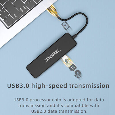 AU20.99 • Buy High Speed 4-Port USB 3.0 Data Hub Extension Splitter For PS4/Switch/ONE/360