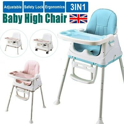 3 In 1 Portable Baby Toddler High Chair Folding Comfortable Feeding Table Seat • 33.58£