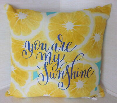 DECORATIVE PILLOW -You Are My Sunshine - Outdoor Indoor Pillow - Yellow - USA • 7.40£