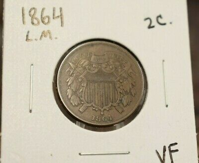 $ CDN22.93 • Buy 1864 2 Cent Piece VF Circulated 1864 LM Two Cent Copper Coin US Type Coins