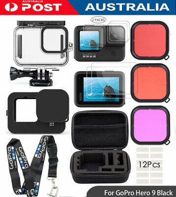 AU55.99 • Buy Accessory Kit For Gopro Hero 9 Black Waterproof Housing Carrying Case Filter