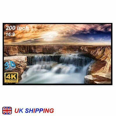 £48.99 • Buy 200-inch Large Projector Screen 16:9 Hanging Projection Screen Movie Screen