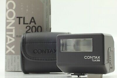 $ CDN412.31 • Buy [Almost Unused In Box] Contax TLA200 Black Shoe Mount Flash For G1 G2 From JAPAN