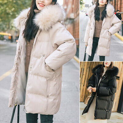 Womens Ladies Parka Hooded Winter Padded Down Puffer Jacket Long Coats Plus Size • 24.99£