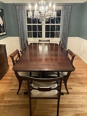 $2250 • Buy Duncan Phyfe Drop Leaf Dining Table, Chairs & Buffet