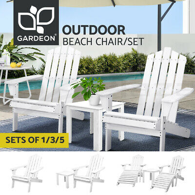 AU236.90 • Buy Gardeon Outdoor Chairs Table Set Beach Chair Adirondack Lounge Patio Furniture