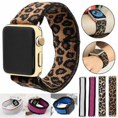 AU9.99 • Buy Nylon Elastic Band Loop Stretchy Strap For Apple Watch Series 6 5 4 3 40mm 44mm