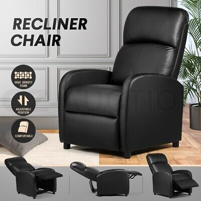AU219.95 • Buy PU Leather Recliner Chair Armchair Upholstered Sofa Couch Living Room Furniture