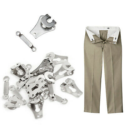 £2.29 • Buy 9mm Metal Silver Trousers Skirts Hooks And Bars Eyes Fasteners Sew On 10 Sets