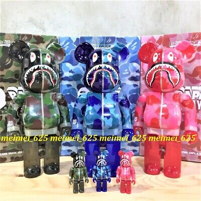 $1688.88 • Buy Bearbrick Medicom 2020 Clear Camo Shark Bape Play 100% 400% Set Be@rbrick