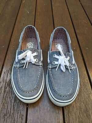 AU44.95 • Buy Vans Blue Denim Boat Shoe Slip On US 5 EUR 36 BARELY WORN EXCELLENT CONDITION