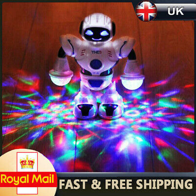 LED Light Electric Dancing Music Space Walking Robot Toy For Boys Kids Gift UK • 8.89£