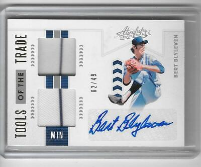 AU28.90 • Buy Bert Blyleven 2020 Absolute Tools Of The Trade Game Jersey Autograph Auto #2/49