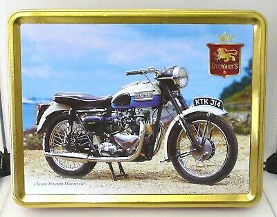 Biscuit/Sweet Tin In The Shape Of A 1960's Pre-unit Triumph Motorcycle (Empty). • 9.98£