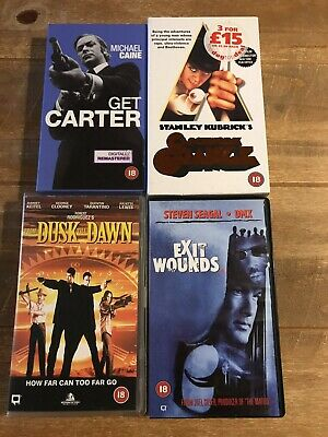 Bundle Of 4 New Sealed VHS Videos Get Carter Dusk Til Dawn Clockwork Orange + • 11.49£