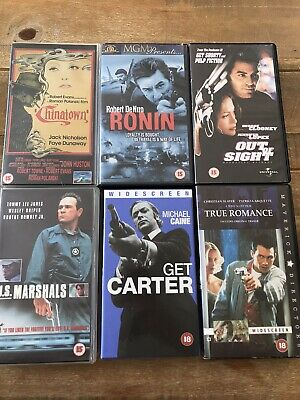 Bundle Of 6 VHS Videos Get Carter Ronin Out Of Sight US Marshals True Romance + • 11.49£