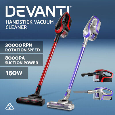 AU99.90 • Buy Devanti Handheld Vacuum Cleaner Cordless Stick Handstick Bagless Recharge 150W
