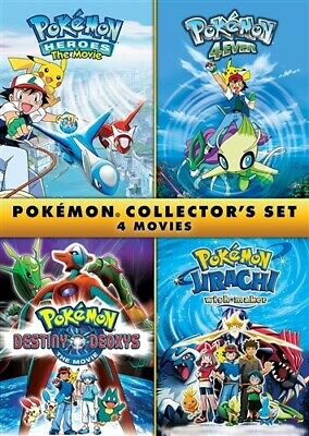 $17.50 • Buy POKEMON COLLECTOR'S SET 4 MOVIES New DVD 4Ever 5 Heroes 6 Wish Maker 7 Deoxys