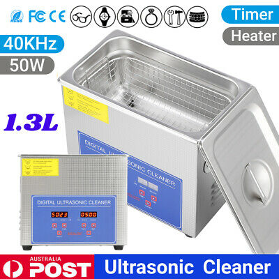 AU73.79 • Buy 1.3L Ultrasonic Cleaners Stainless Steel Cleaning Tank Industry Heater Timer NEW