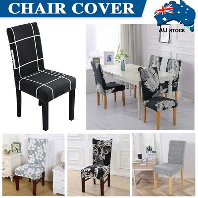 AU5.99 • Buy 1-8Pcs Stretch Dining Chair Covers Slipcover Spandex Wedding Cover Removable New