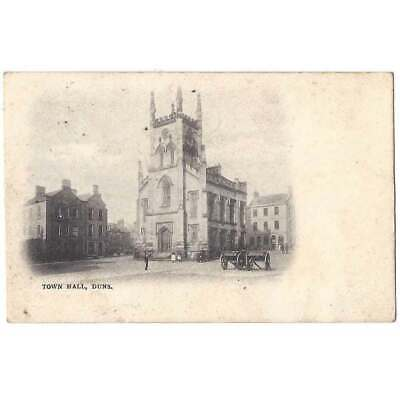 £4.95 • Buy DUNS Town Hall, Berwickshire, Early Undivided Back Postcard Unused