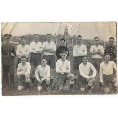 Military Cadets Football Team RP Postcard C1930s, Unposted • 4.95£
