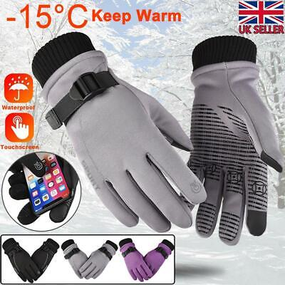 -15°C Winter Thermal Men Women Snow Skiing Gloves Scooter  Cycling Outdoor Sport • 8.09£