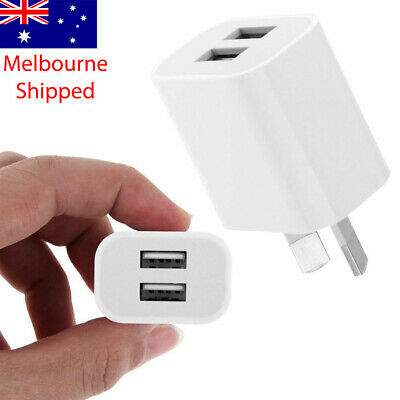 AU7.49 • Buy Wall Charger Phone 2 Port Fast Charging USB Travel 5V 2A Adapter AU Plug