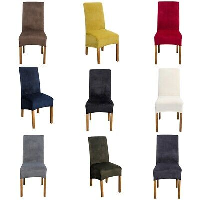 AU18.63 • Buy Dining Chair Cover Velvet Chair Slipcovers Stretchy Chair Protector Multi Color