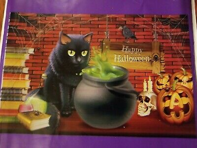 """$ CDN12.15 • Buy Halloween Wall Mural Indoor Decorations Black Cat Witch Brew Potion 42"""" X 72"""""""