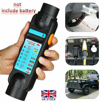 7 Pin Towing Trailer Tow Bar Caravan Light Wiring Circuit Tester Plug Socket 12V • 7.49£