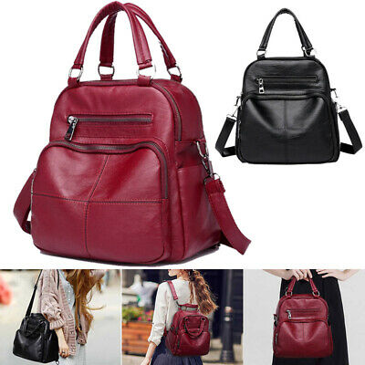 Women PU Leather Backpack Lady Large Handbag Satchel Shoulder Travel School Bag • 13.56£