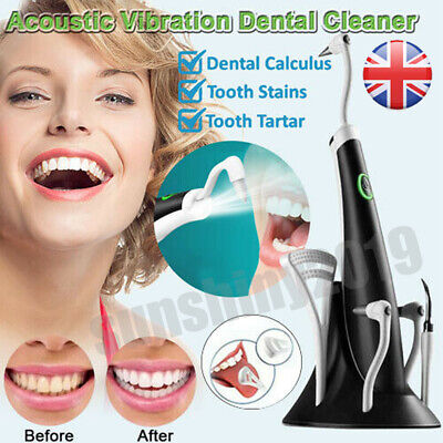 Electric Sonic Plaque Dental Scaler Tartar Calculus Remover Tooth Stains Tool UK • 10.98£