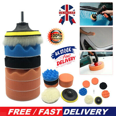 4 Inch Car Polishing Pad Kit With M14 Drill Adapter For Car Polisher Accessories • 5.16£