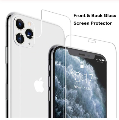 AU6.25 • Buy Front + Back Tempered Glass Screen Protector For Apple IPhone X 7 8 Plus SE